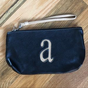 Handbags - Wristlet in Black/Brown Leather